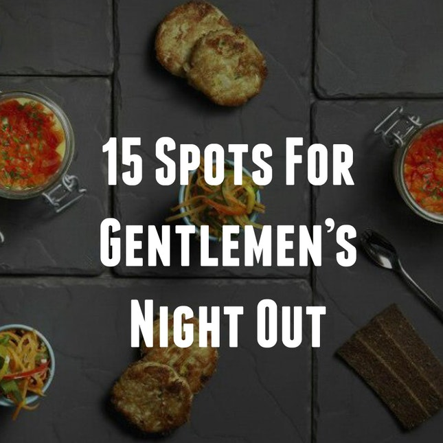 15 Best Spots For Gentlemen's Night Out