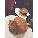 #dinner w @julieeennn; Roadside Chicken Burger & Classic Charlie Burger 🍔