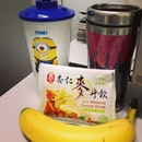 #lunch #cereal #banana