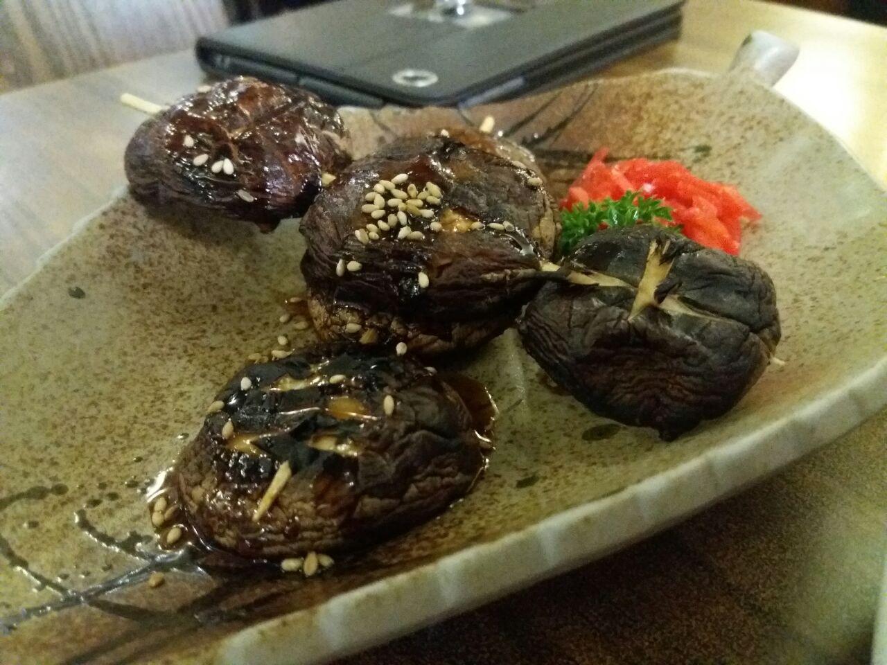 Grilled Shitake