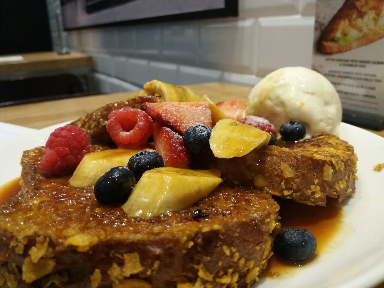 Corn Flakes Brioche French Toast