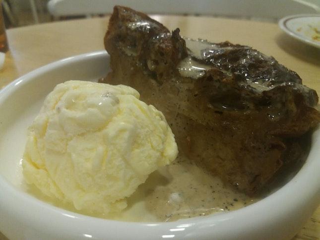 Hojicha Bread Pudding