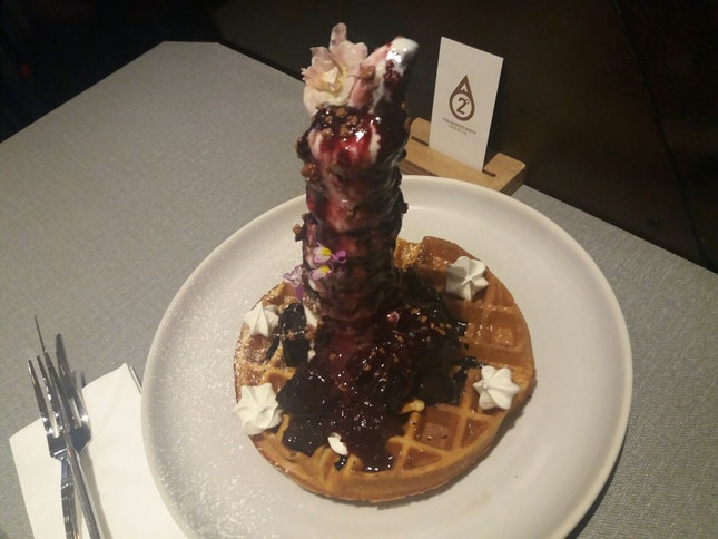 Blackfrrest Sundae Waffle ($23)