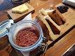 Chicken Liver Foie Gras Parfait Madeira Jelly Brioche ($23)