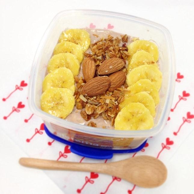 Banana And Choco Overnight Oat