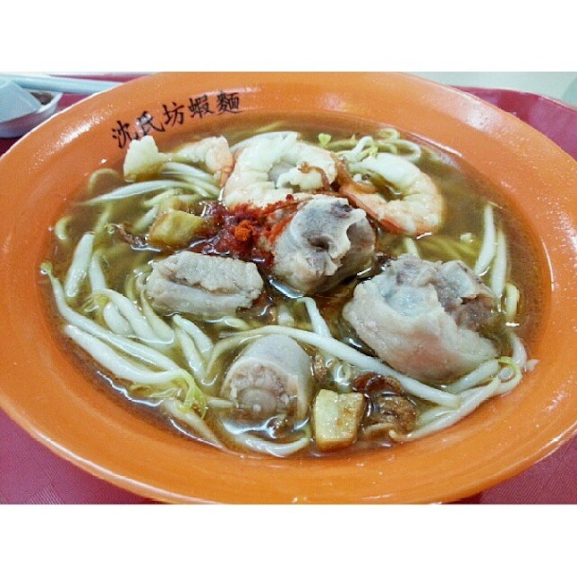 Some awesome prawn mee soup I had!