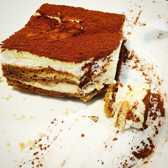 Tiramisu here is pretty good plus its like the icecream kind 😍😍