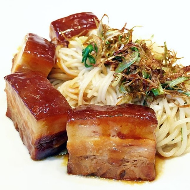 La Mian with Scallion Oil served with Dong Po Pork Belly