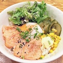 Torched Salmon Donburi