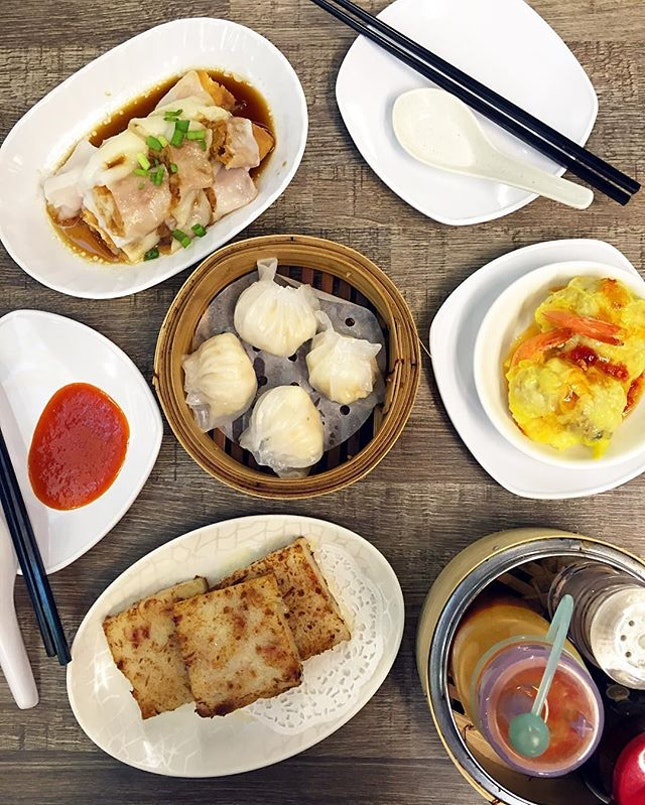 You Tiao Chee Cheong Fun, Har Gau, Pan-fried Carrot Cake, Phoenix Dumpling