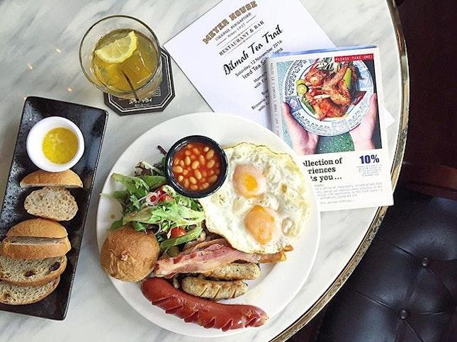 Homer's Breakfast with Dilmah English Breakfast Tea.