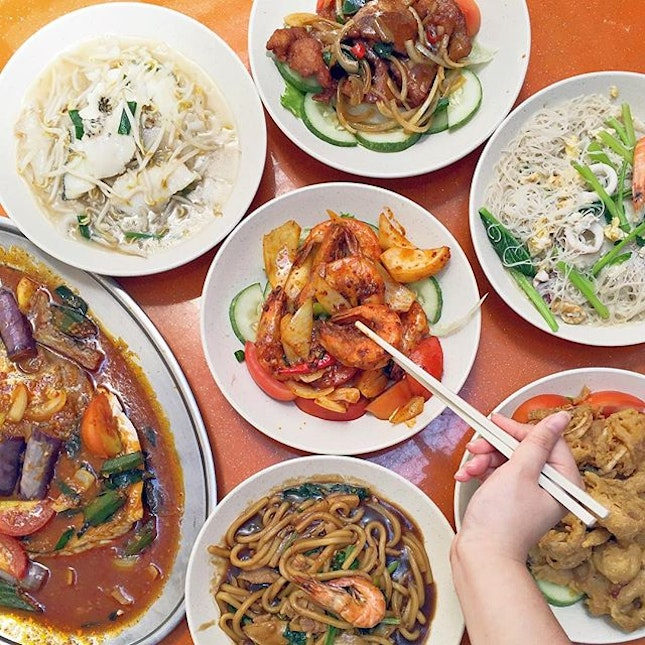 Assorted Zi Char Dishes