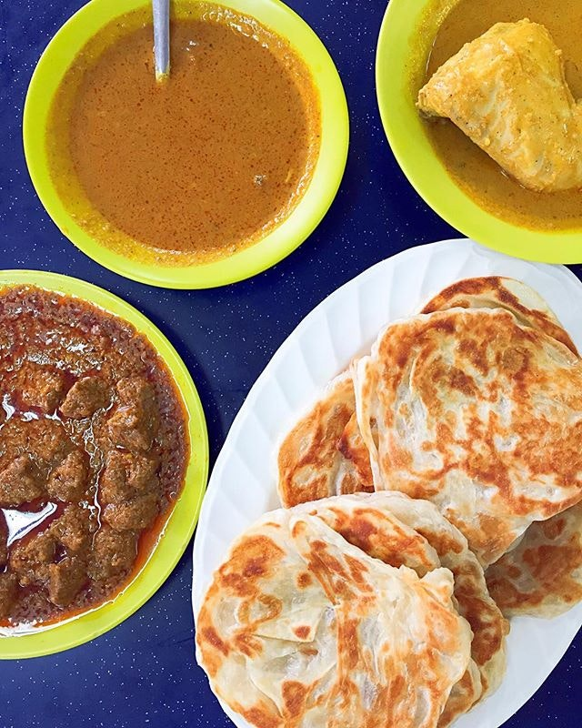 Plain Prata, Mutton Curry, Fish Curry, Chicken Curry