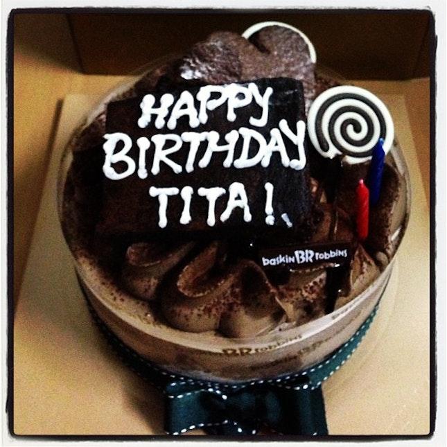 Birthday Cake For My Mom From Ate Iamcrisnovero Baskinrobbins Baskin