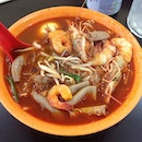 The Sinful Prawn Mee served with King Prawn and 🐷 Intestine for RM12.