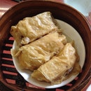 Beancurd Skin Roll W Fish Maw, Meat And Prawn