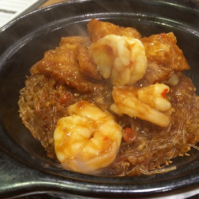 My fave: Fish Maw and Prawns with Glass Noodles in XO sauce ✨ #cantonese #dinner #omnomnom #yum #tgif
