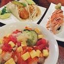Dinner with @foldedmemos at Tanuki Raw earlier today teehee!!