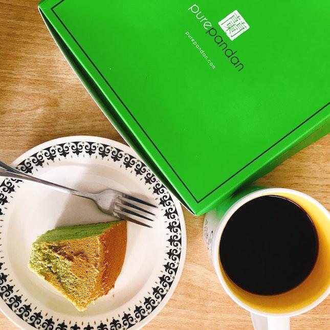 Green Tea Honey Pandan Cake