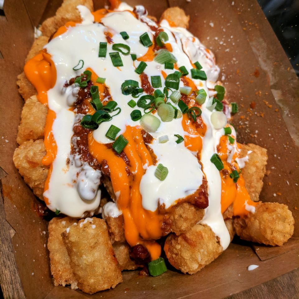 Beef Chilli Tater Tots ($14)