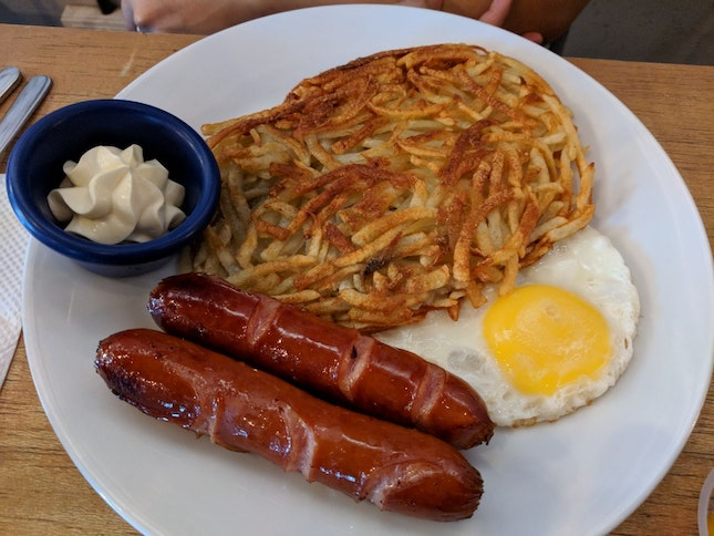 Rosti With Bratwurst