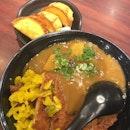 Cheese Gyoza, Curry Rice