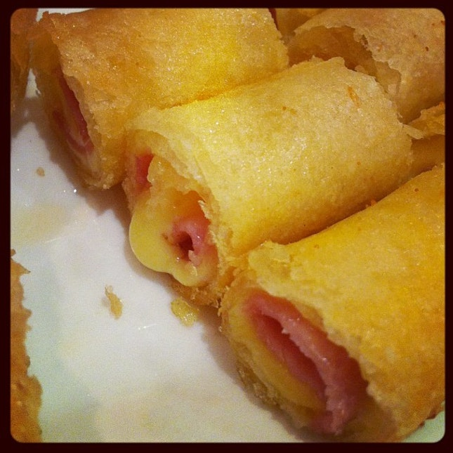 ปอเปี๊ะแฮมชีส #ham #cheese #roll #thai #style #yummy #delicious #food #thailand