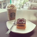 #Starbucks Tiramisu Frappuccino and Chocolate Croissant Doughnut for the #wtfdiet #Cafe #Coffee #Singapore #StarbucksSG