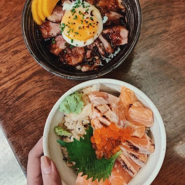 $14.90 Truffle Yakiniku & Salmon Kaisen