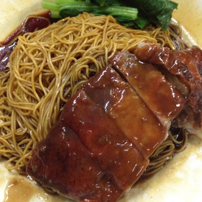 Wantan Mee with Duck Braised w/ Ginger