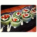 Jyu Raku Special Roll #sushi #foodie #foodstagram #avacado #veggie #wrap #fishroe