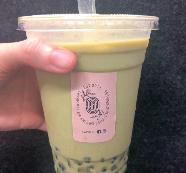 Genmaicha Milk Tea With Chestnut Pearl
