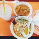 Laksa And Curry Chicken
