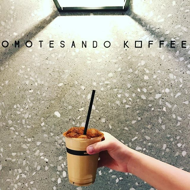 Make your way down to @downtowngallerysg for this Ice Cappuccino by Omotesando Koffee #downtowngallerysg