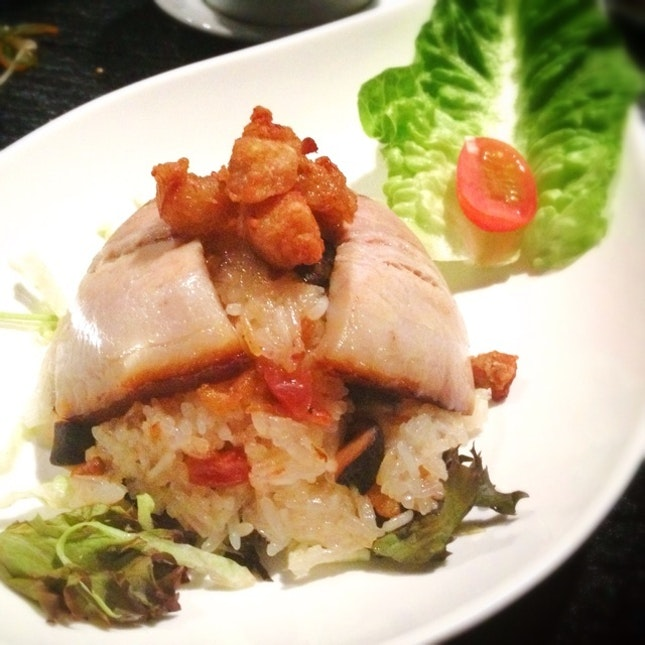 Glutinous Rice with Pork Belly & Fried Lard