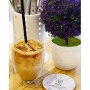 Iced apple cinnamon coffee at #IvoryCoffeeSG.