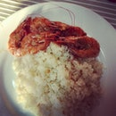 #breakfast #cravings #butteredshrimp #garlicrice #sick #hunhun&me @tres_soliven