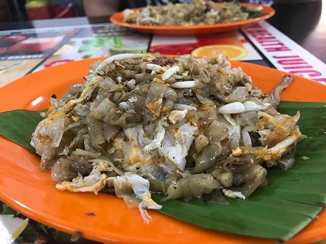 Duck egg Char Kuay Teow.