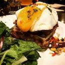 Chicken & Herbed Waffle.