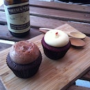 Cupcakes and coffee is always a good idea - special milo and red velvet flavour #burpple