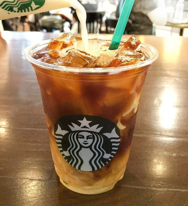 Chilling with the new cold brew from @starbuckssg - ain't too shabby especially for $4.80 a cuppa.
