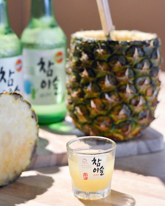 Pineapple Soju ($21.90) great for Friday drinks with friends - Super dangerous as well when it is so easy to drink!