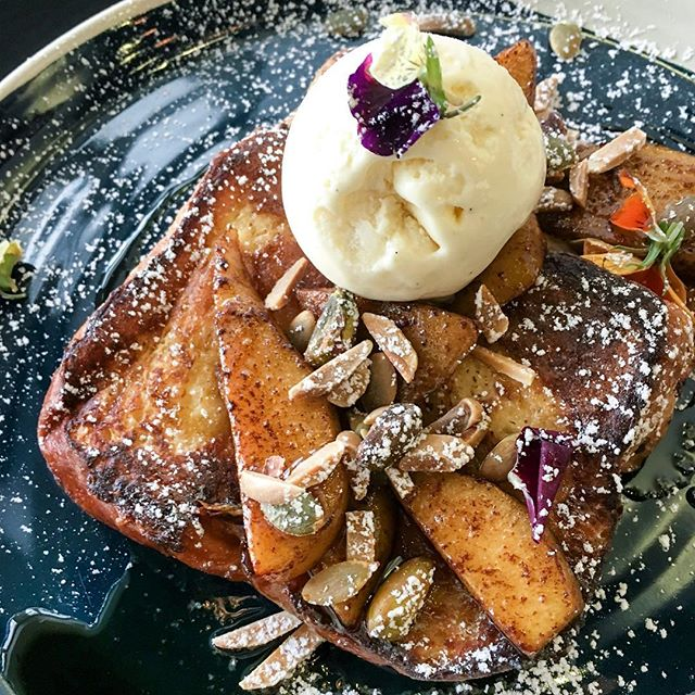 French Toast ($17.50) from the newly opened @hustlecosg.