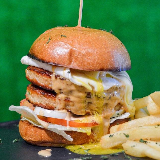 Messy Chicken Burger ($14)