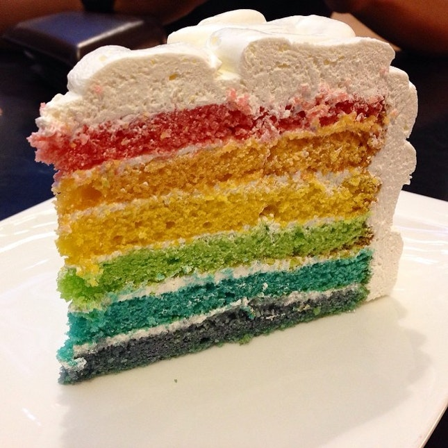 The quest for the best rainbow cake continues.