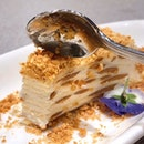 🍰PEANUT CREPE CAKE ANYONE?🍰 Fell in love with @elemensg Min Jiang kueh Crepe Cake with roasted peanuts!