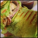 Spinach wrap ala meat lovers!