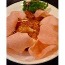 金雞報喜 // all eyes on the super duper very pink keropok!