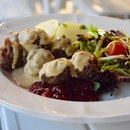 Swedish meatballs and lindonberry sauce // still a fan of IKEA's.