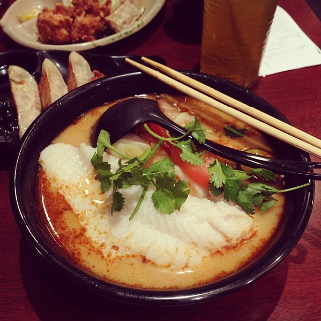 Dory Fish Tom Yum Ramen.